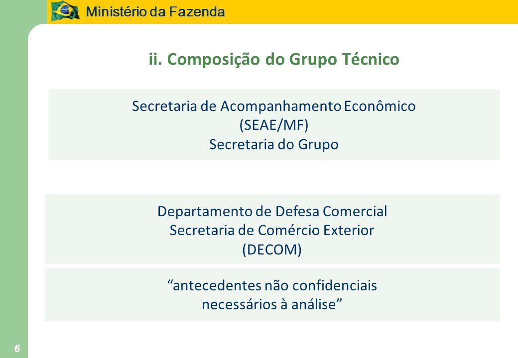 ii. Composição do Grupo Técnico