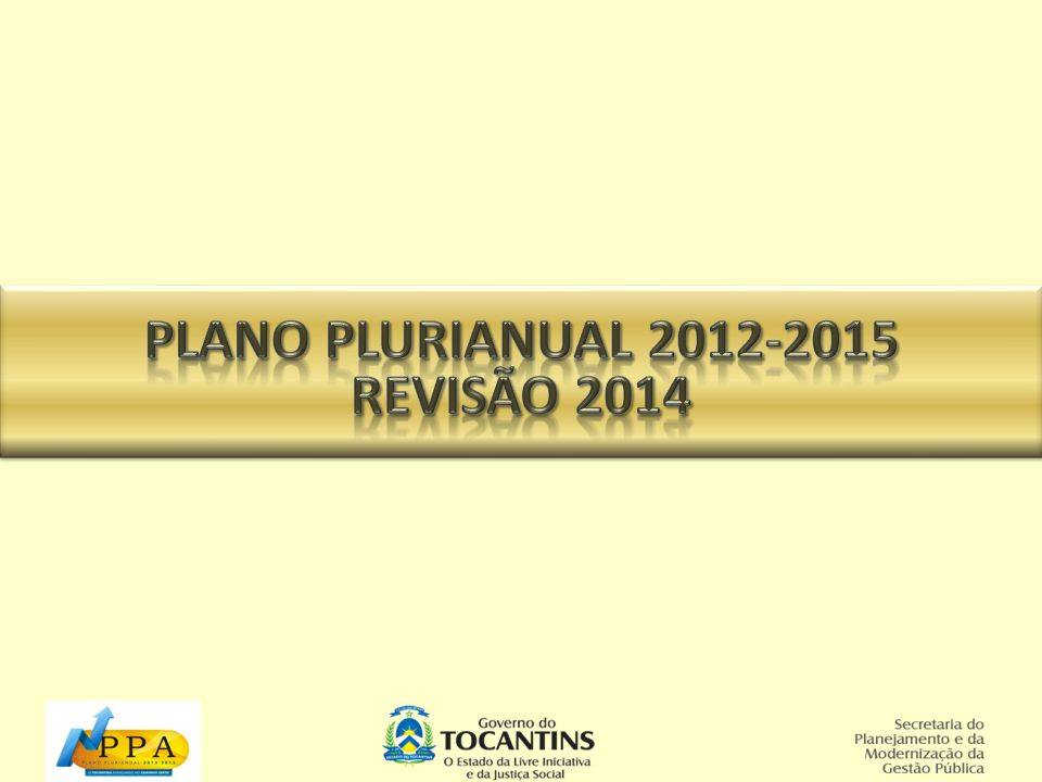 Revisão 2013 do Plano Plurianual 2012-2015