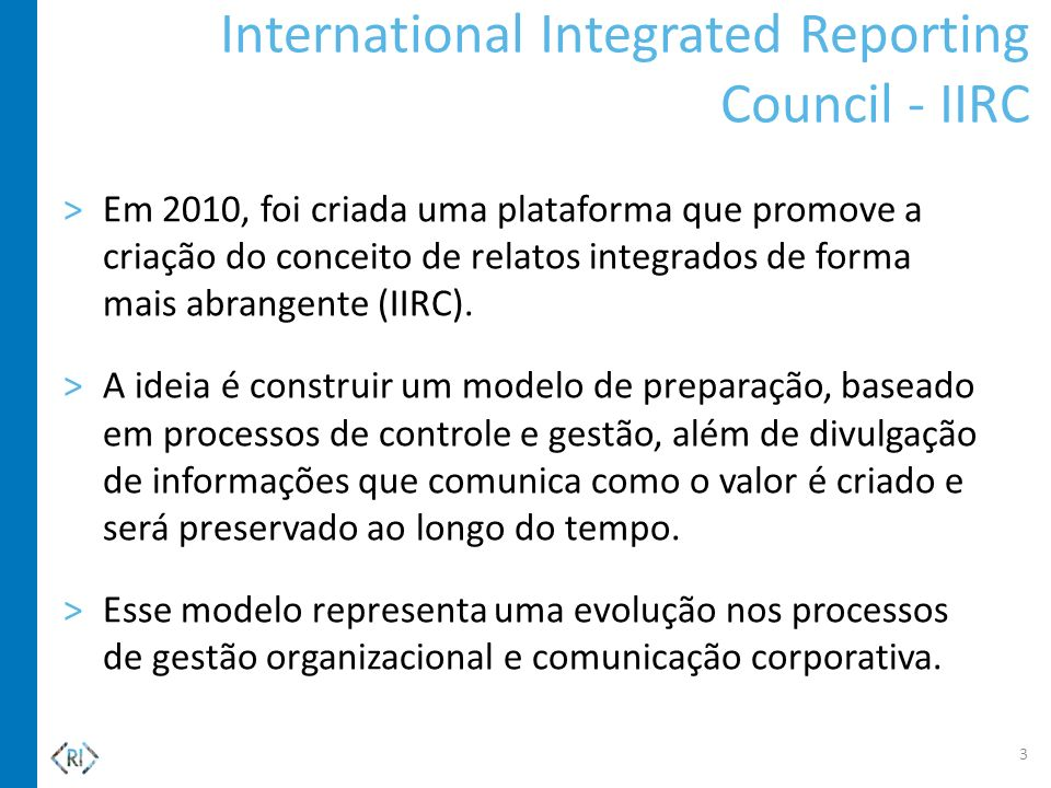 International Integrated Reporting Council - IIRC