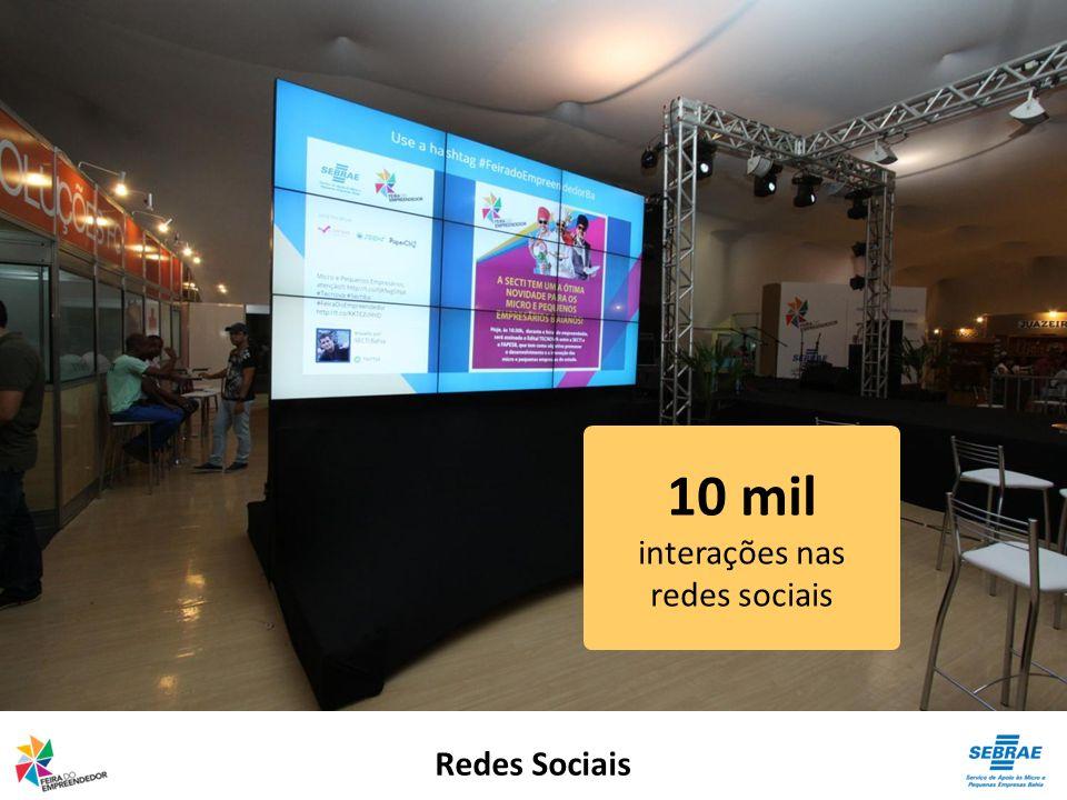 10 mil interações nas redes sociais