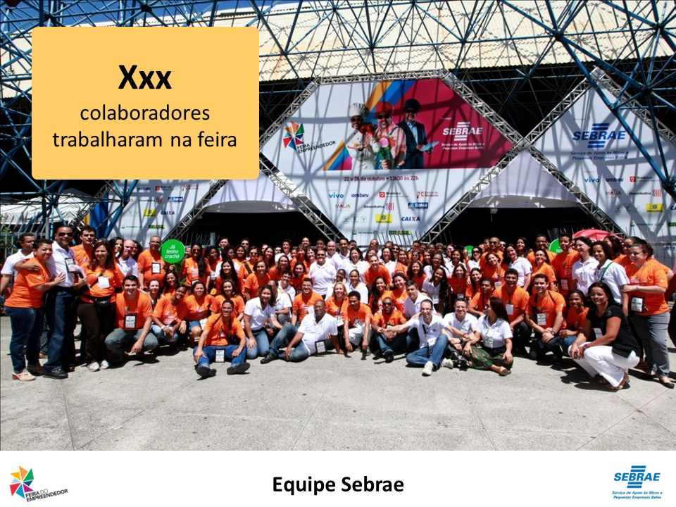 Xxx colaboradores trabalharam na feira