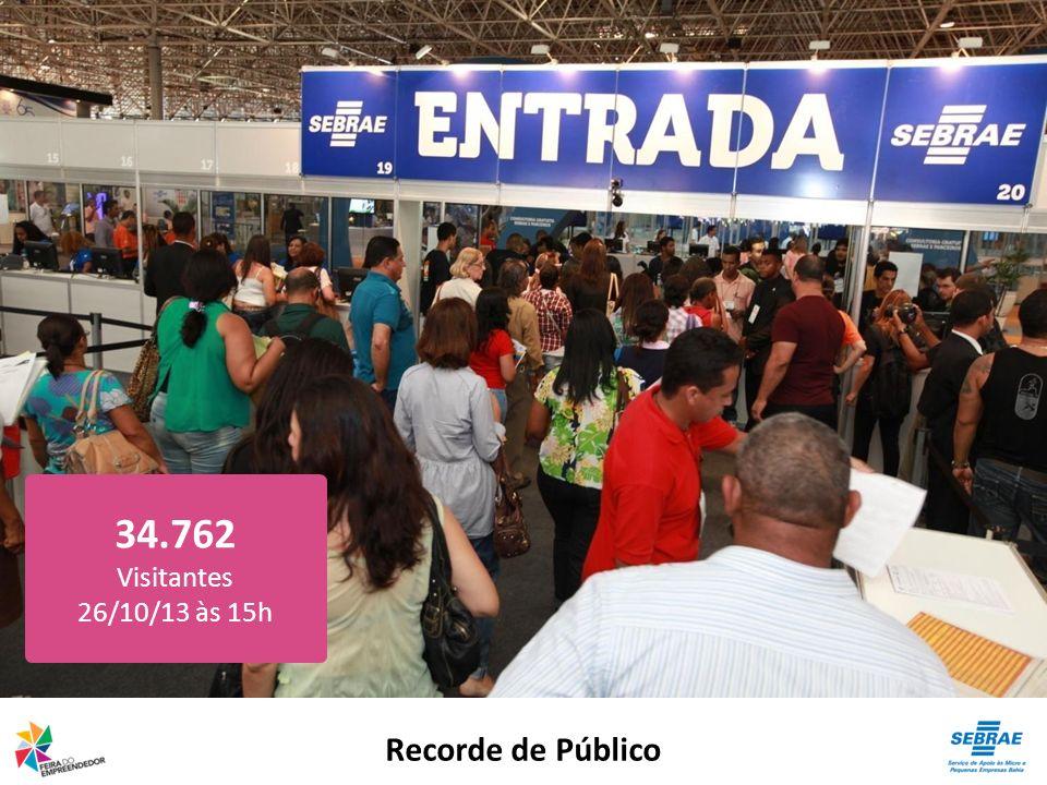 34.762 Visitantes 26/10/13 às 15h Recorde de Público