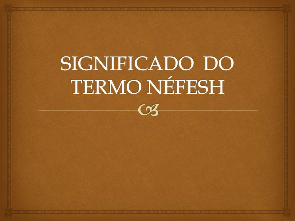SIGNIFICADO DO TERMO NÉFESH