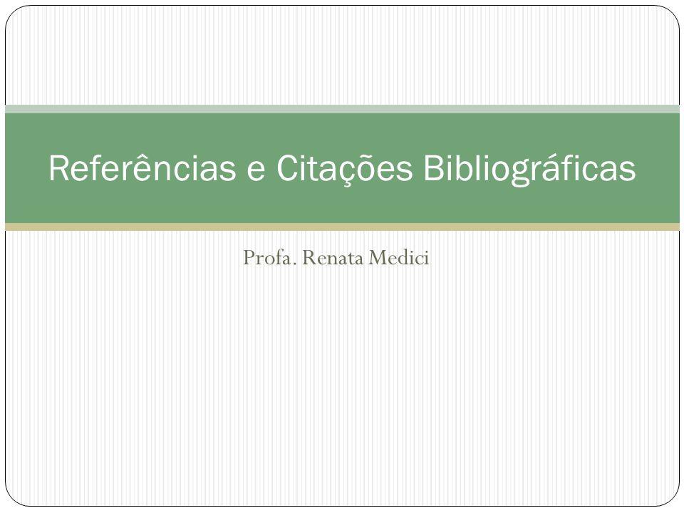 Referências e Citações Bibliográficas
