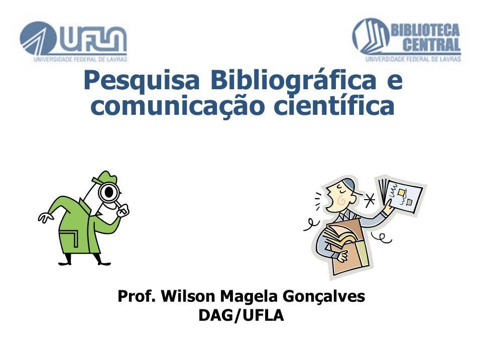 Pesquisa Bibliográfica e comunicação científica