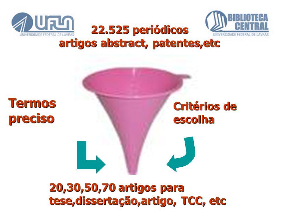 22.525 periódicos artigos abstract, patentes,etc