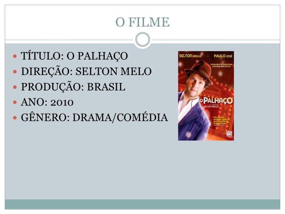 O FILME TÍTULO: O PALHAÇO DIREÇÃO: SELTON MELO PRODUÇÃO: BRASIL