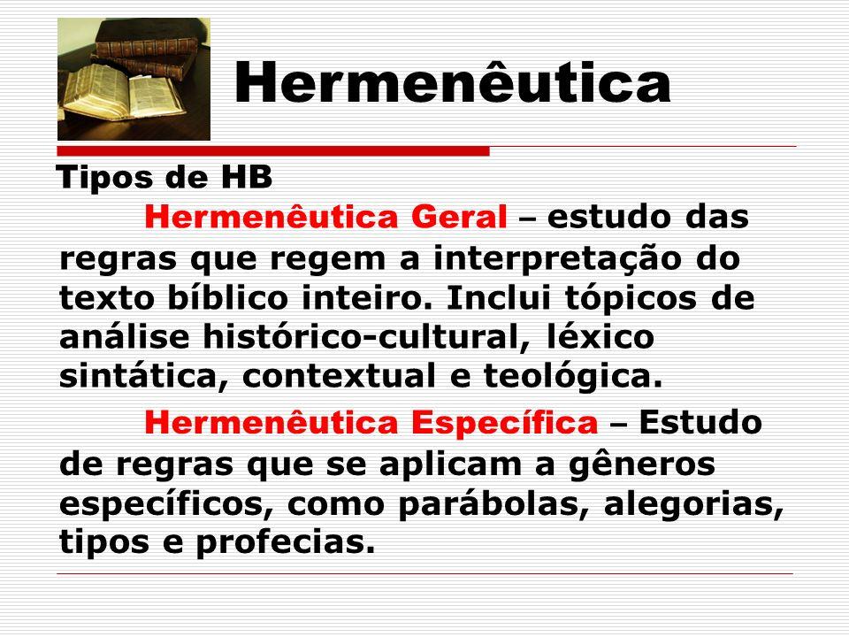 Hermenêutica Tipos de HB