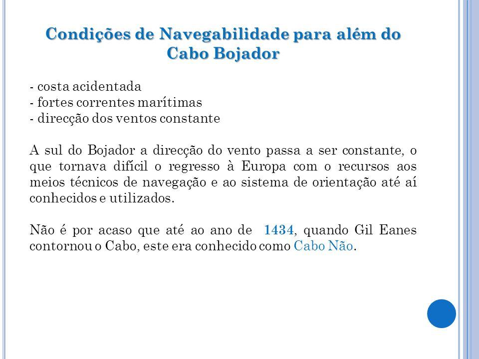 Condições de Navegabilidade para além do Cabo Bojador