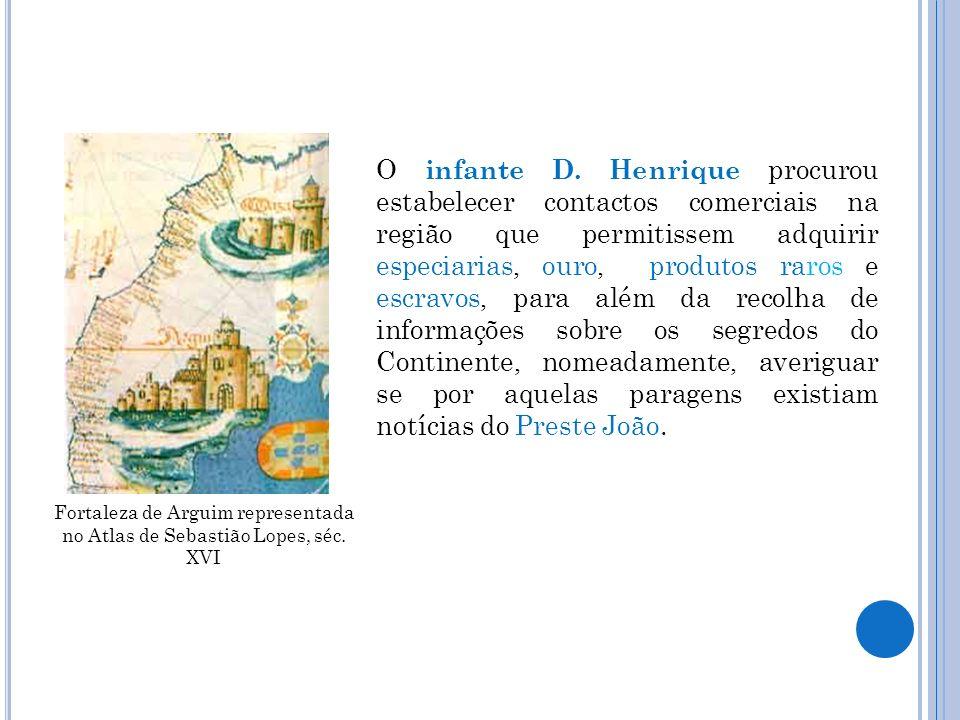 Fortaleza de Arguim representada no Atlas de Sebastião Lopes, séc. XVI