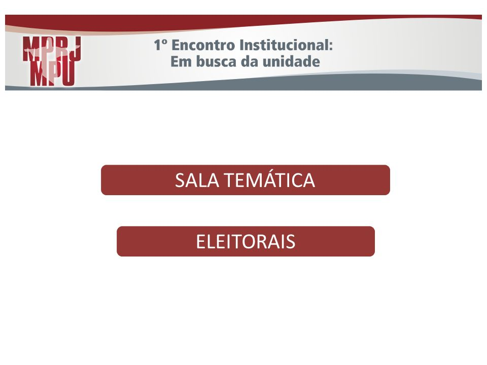 SALA TEMÁTICA ELEITORAIS