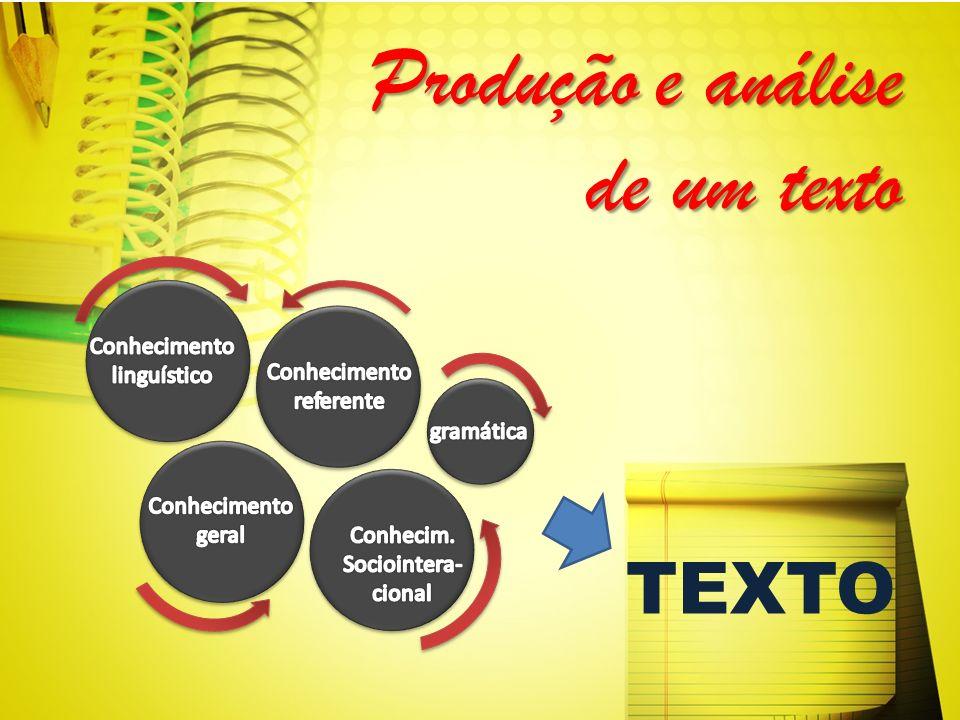 Produção e análise de um texto