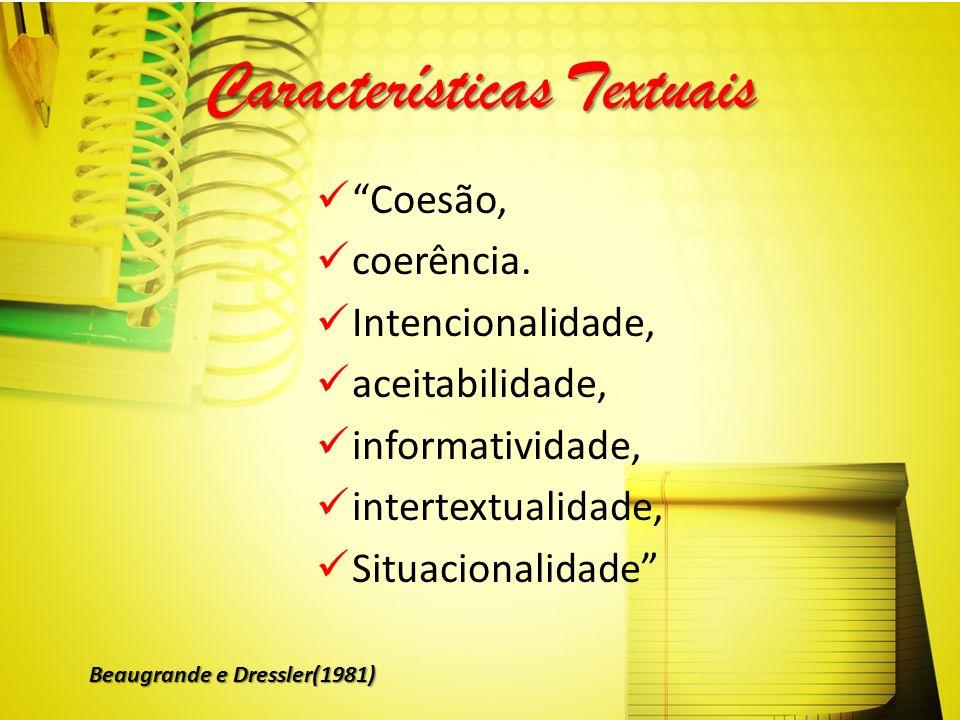Características Textuais