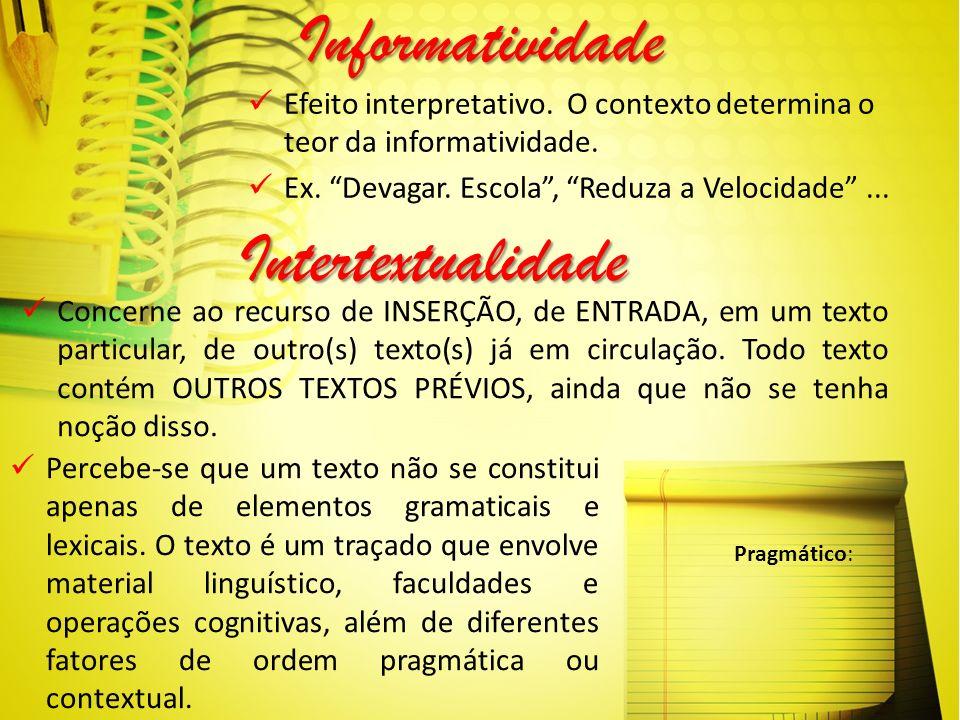 Informatividade Intertextualidade