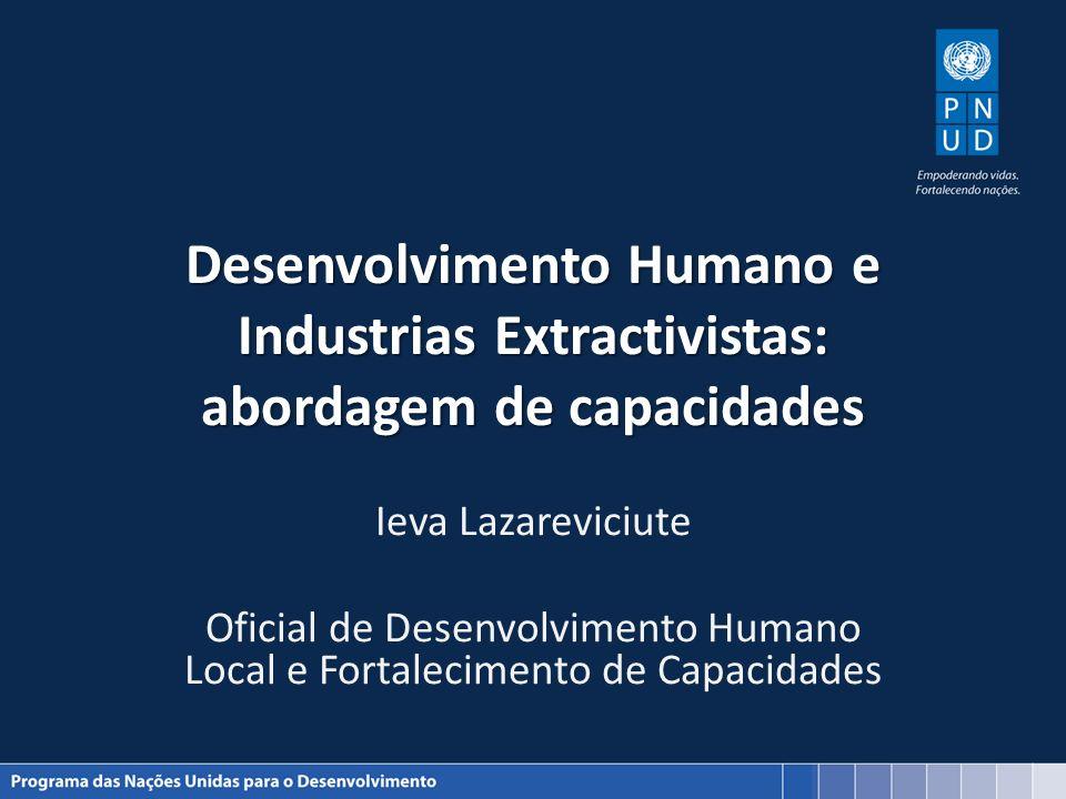 Desenvolvimento Humano e Industrias Extractivistas: abordagem de capacidades