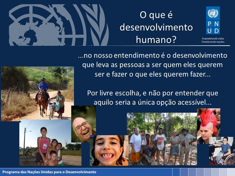 O que é desenvolvimento humano