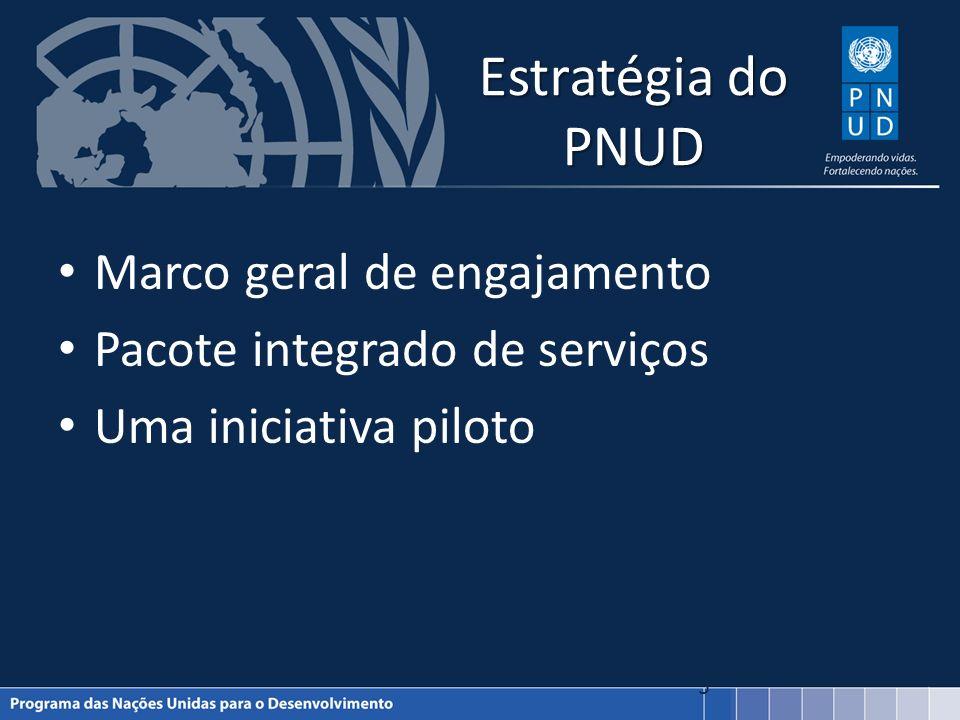 Estratégia do PNUD Marco geral de engajamento