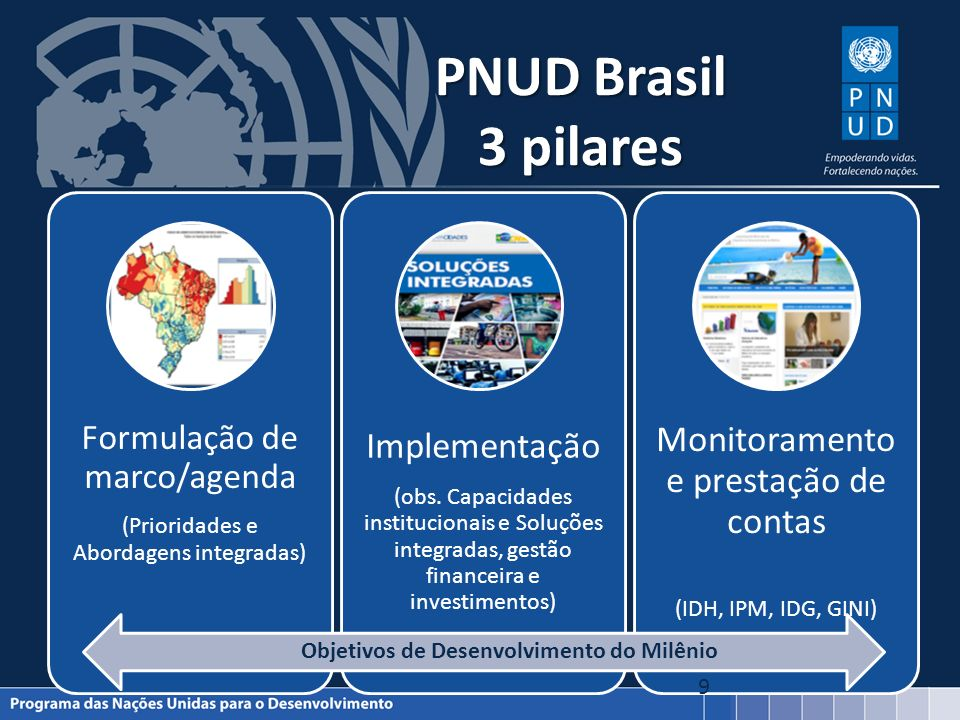 PNUD Brasil 3 pilares Monitoramento e prestação de contas