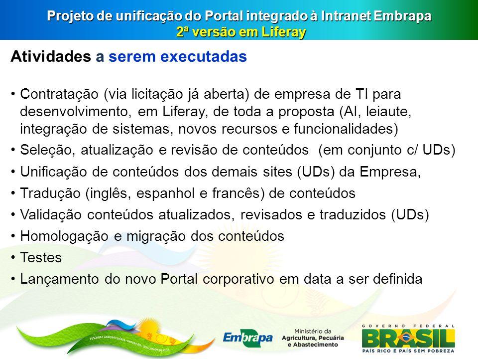 Projeto de unificação do Portal integrado à Intranet Embrapa 2ª versão em Liferay
