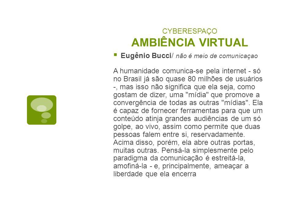 CYBERESPAÇO AMBIÊNCIA VIRTUAL