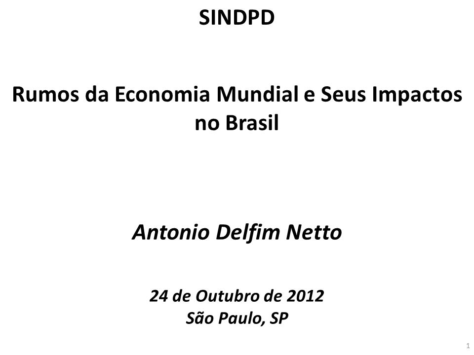 Rumos da Economia Mundial e Seus Impactos no Brasil