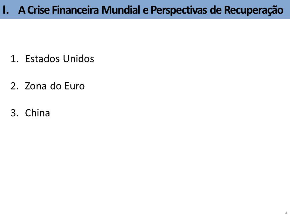 I. A Crise Financeira Mundial e Perspectivas de Recuperação