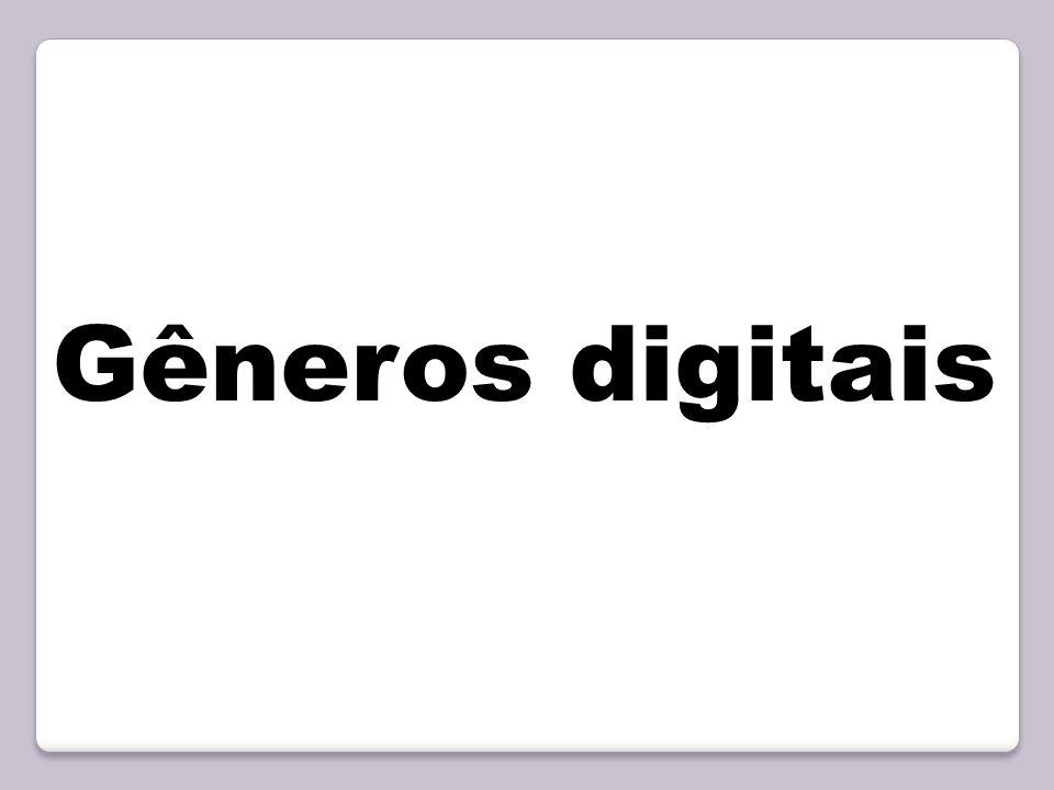 Gêneros digitais