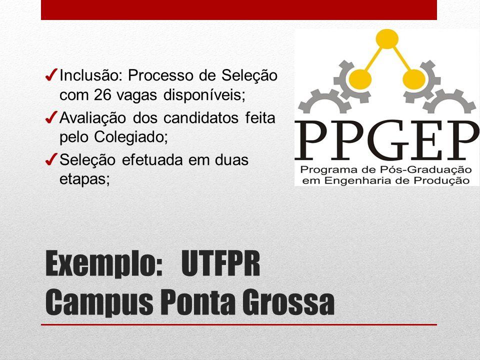 Exemplo: UTFPR Campus Ponta Grossa