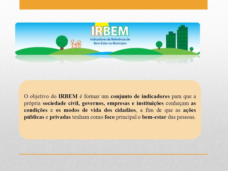 O objetivo do IRBEM é formar um conjunto de indicadores para que a própria sociedade civil, governos, empresas e instituições conheçam as condições e os modos de vida dos cidadãos, a fim de que as ações públicas e privadas tenham como foco principal o bem-estar das pessoas.