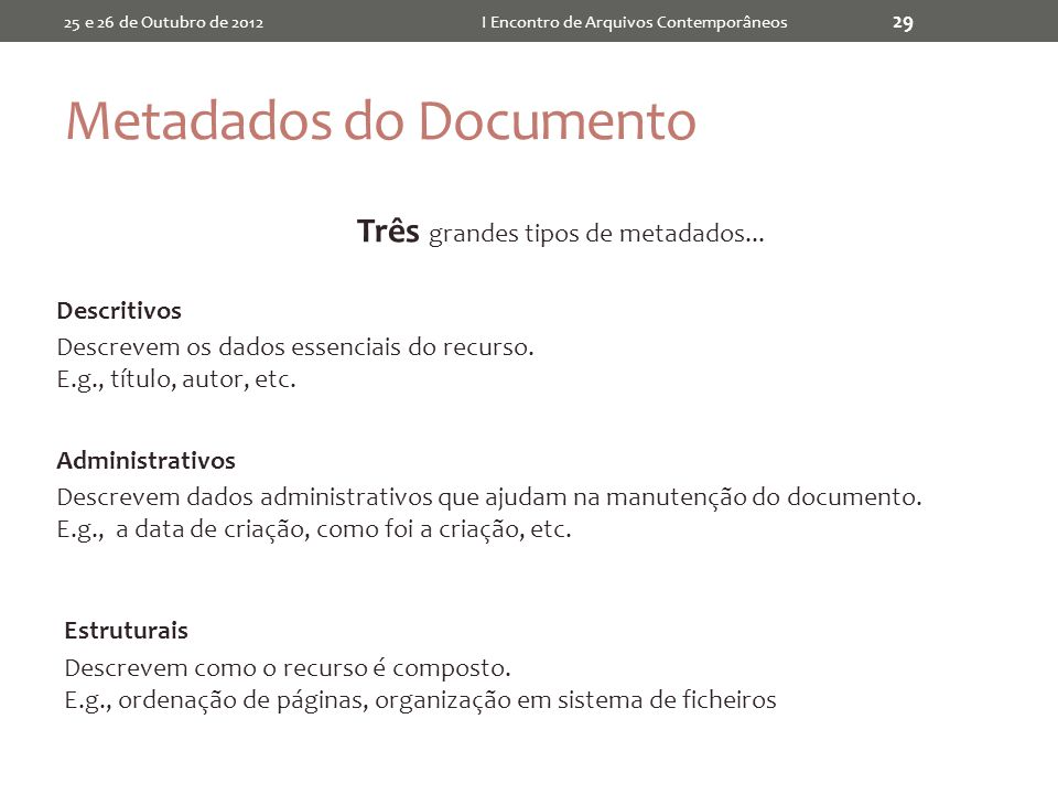Metadados do Documento