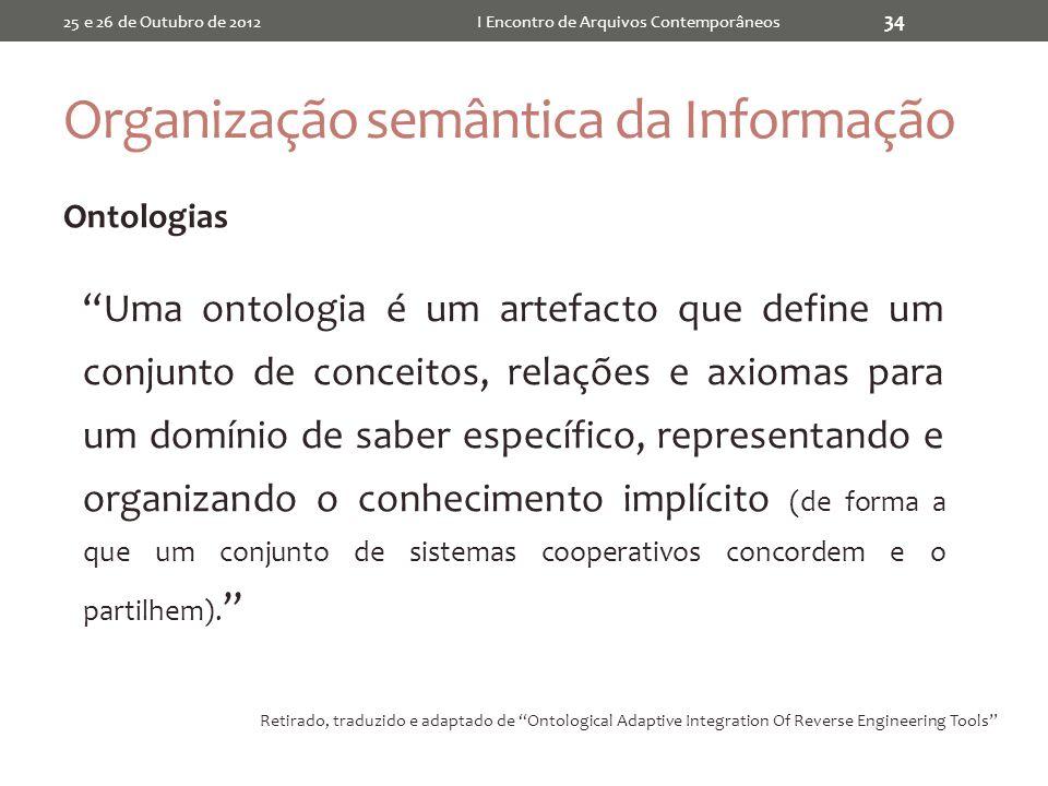 Organização semântica da Informação
