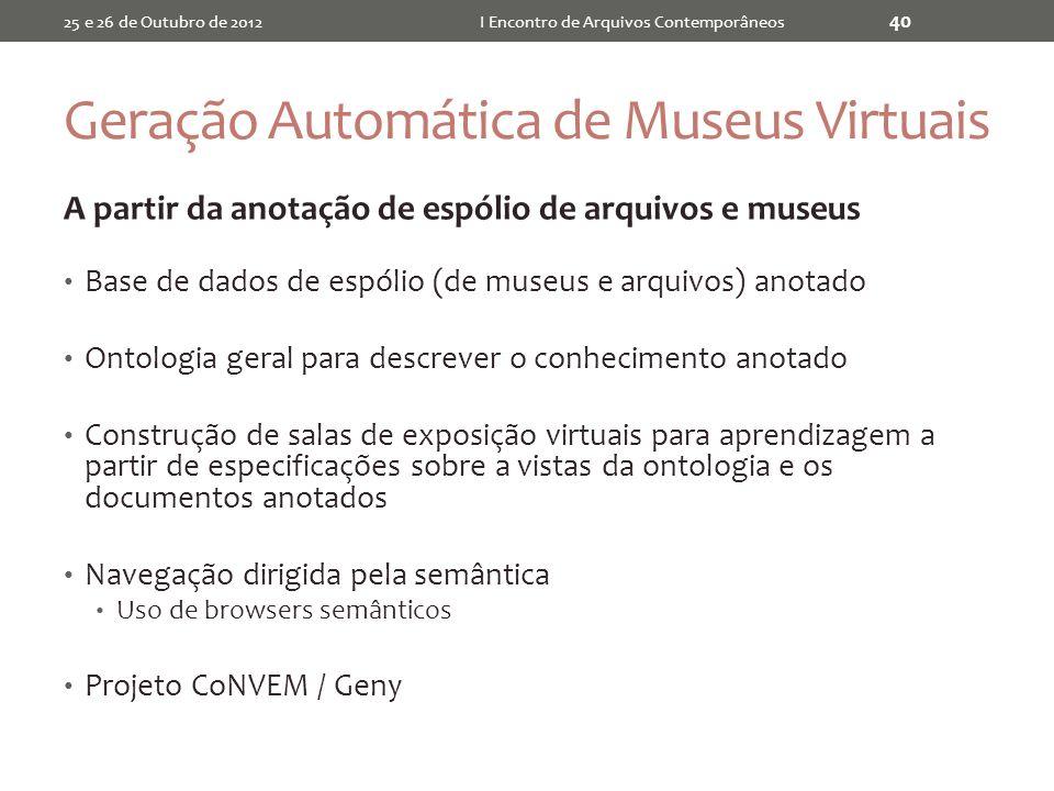 Geração Automática de Museus Virtuais