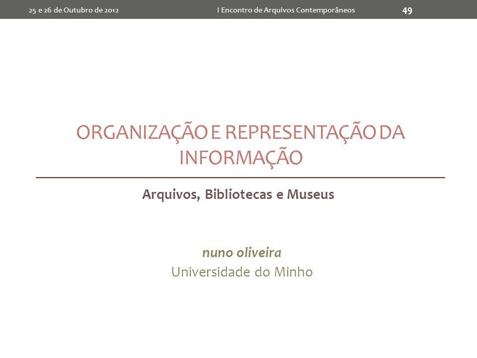 Organização e Representação da Informação