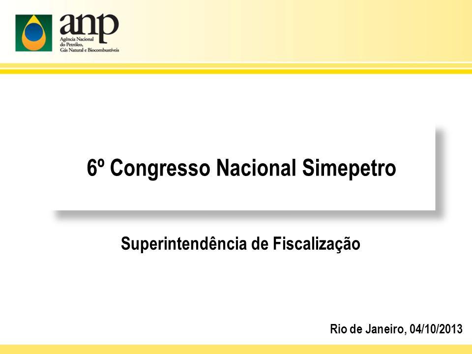 6º Congresso Nacional Simepetro Superintendência de Fiscalização