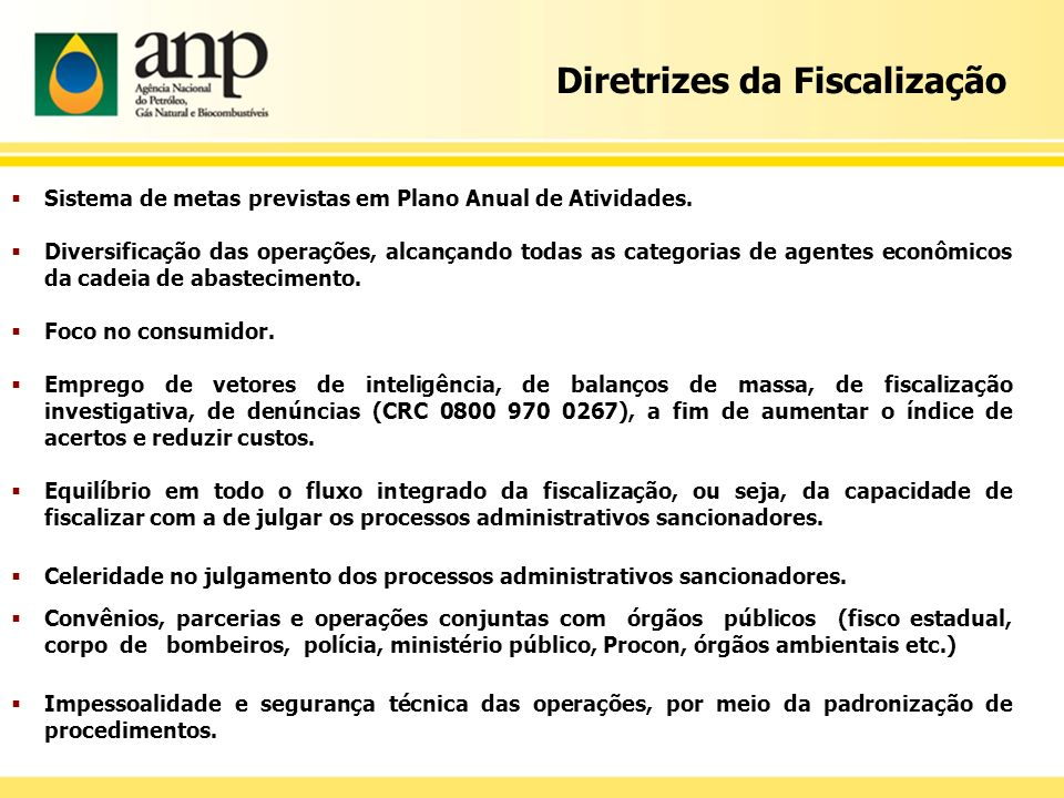 Diretrizes da Fiscalização