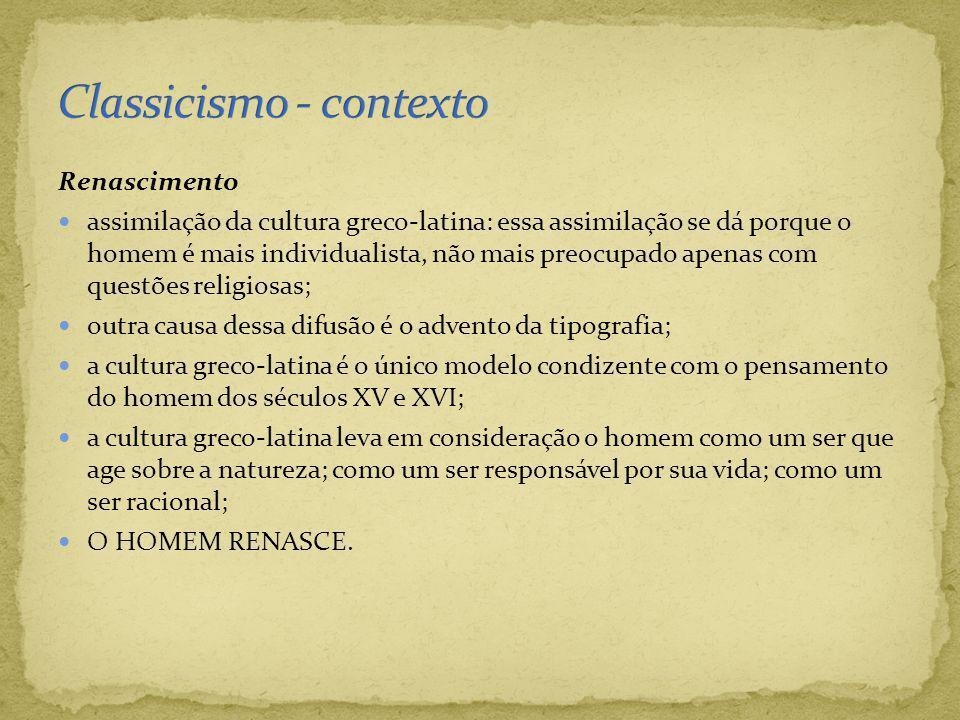 Classicismo - contexto