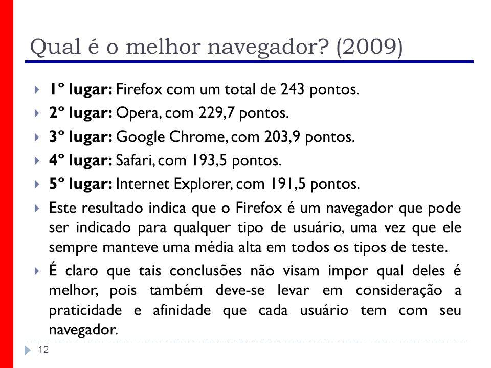 Qual é o melhor navegador (2009)