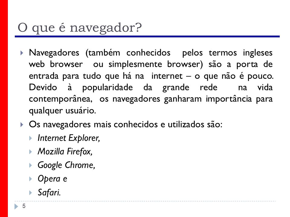 O que é navegador