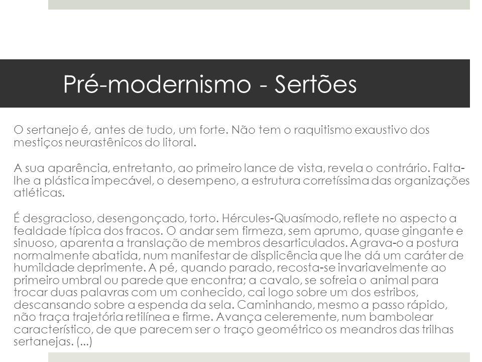 Pré-modernismo - Sertões