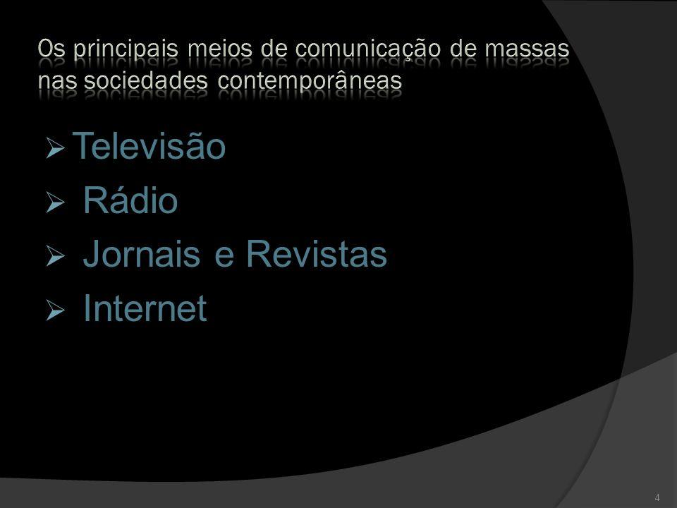 Televisão Rádio Jornais e Revistas Internet