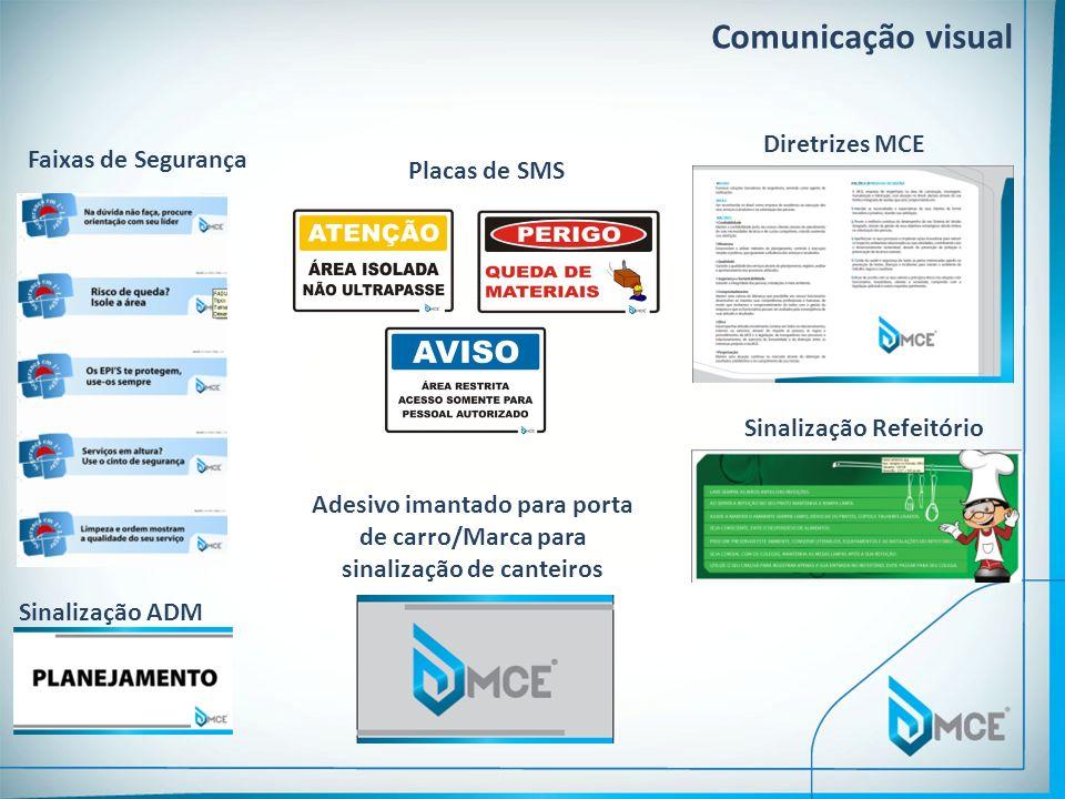Comunicação visual Diretrizes MCE Faixas de Segurança Placas de SMS
