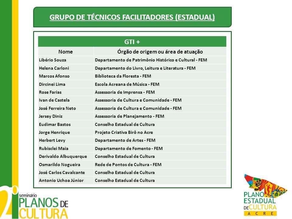 GRUPO DE TÉCNICOS FACILITADORES (ESTADUAL)