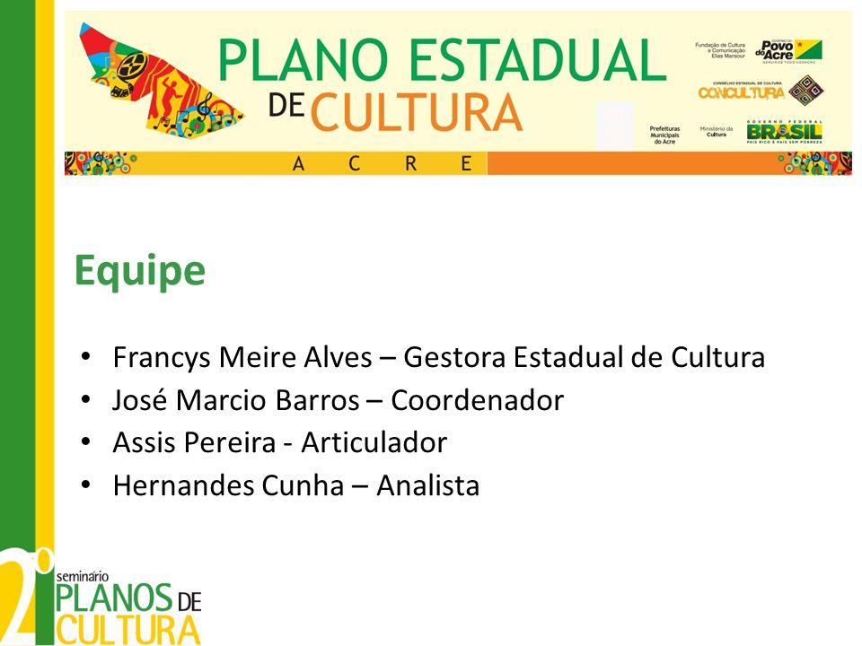 Equipe Francys Meire Alves – Gestora Estadual de Cultura
