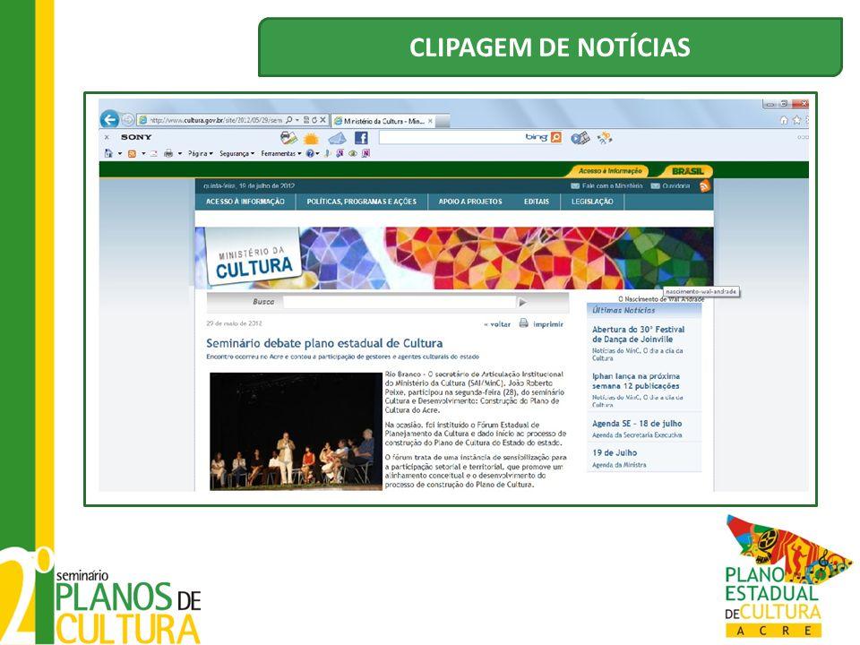 CLIPAGEM DE NOTÍCIAS
