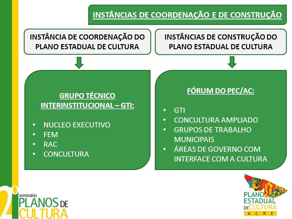 INSTÂNCIAS DE COORDENAÇÃO E DE CONSTRUÇÃO