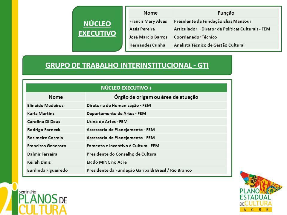 NÚCLEO EXECUTIVO GRUPO DE TRABALHO INTERINSTITUCIONAL - GTI
