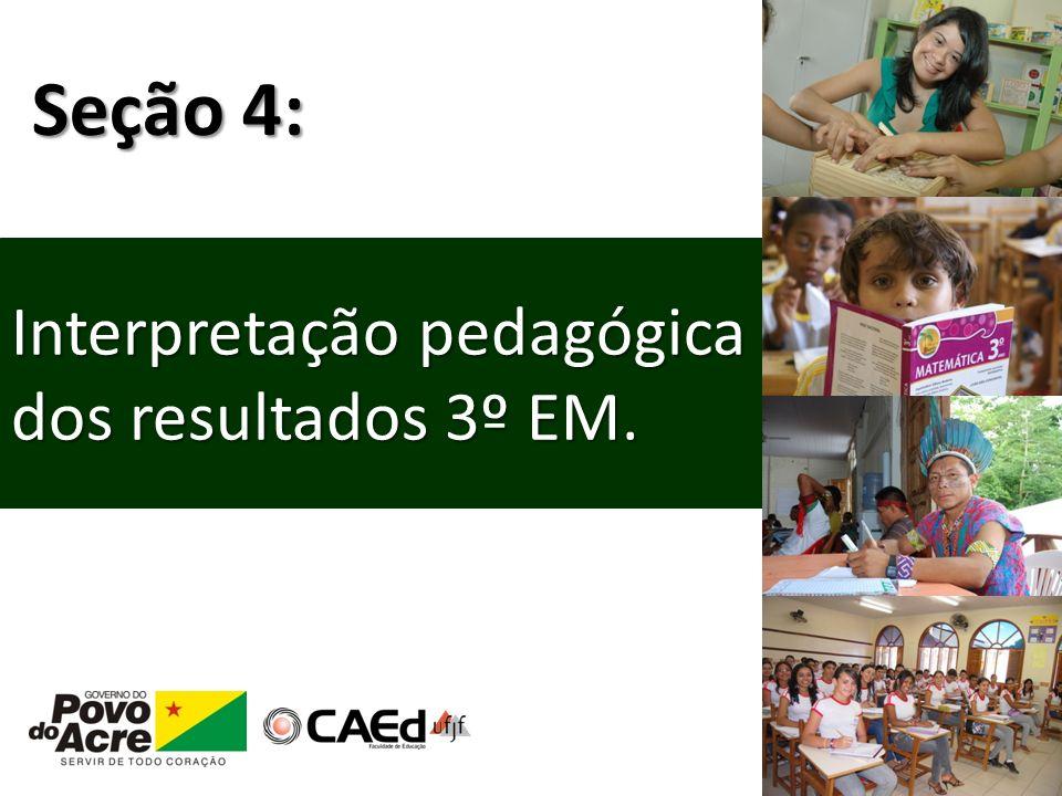 Seção 4: Interpretação pedagógica dos resultados 3º EM.