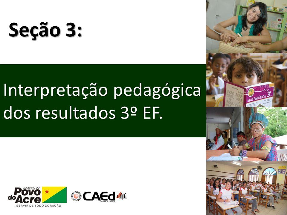 Seção 3: Interpretação pedagógica dos resultados 3º EF.