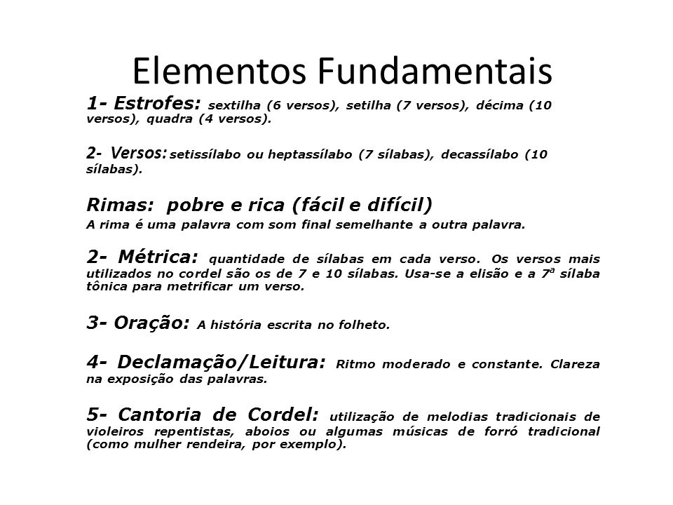 Elementos Fundamentais