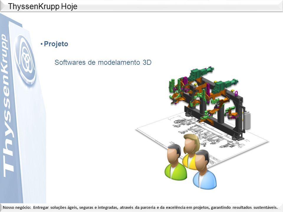 ThyssenKrupp Hoje Projeto Softwares de modelamento 3D